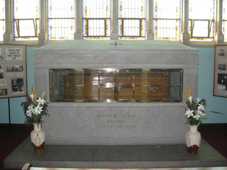 Matt's remains in a purpose built shrine of Wicklow granite
